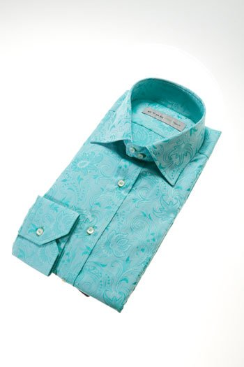 Etro green paisley button down shirt