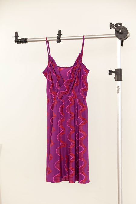 Amanda Uprichard magenta geo wave dress