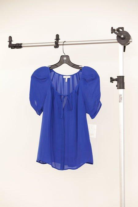 """Joie """"Berkeley"""" blue silk pleated blouse"""