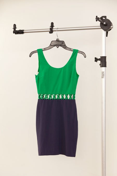Ark & Co. green and navy cut-out cotton dress