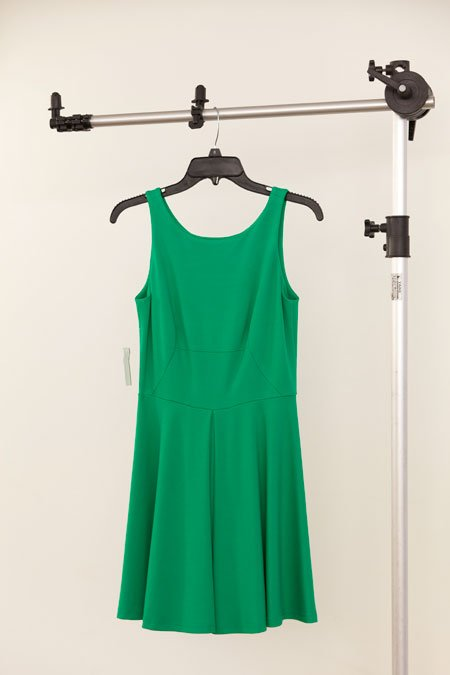 Amanda Uprichard green pleated ponti dress
