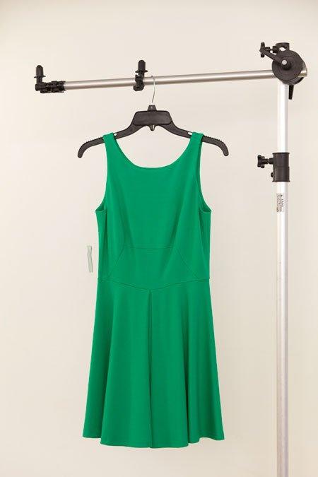 Amanda Uprichard green pleated ponti dress