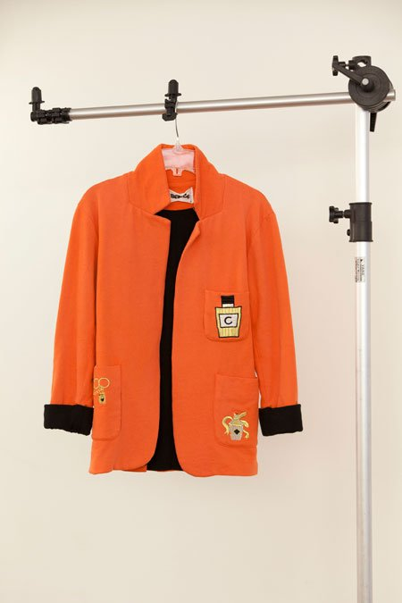 "Sauce coral cotton ""Chanel"" patches blazer"