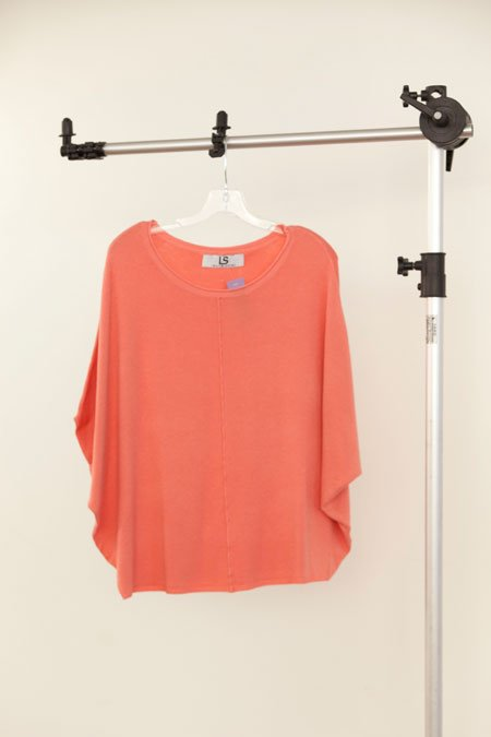Laurie Solet Private Label peach cashmere blended poncho