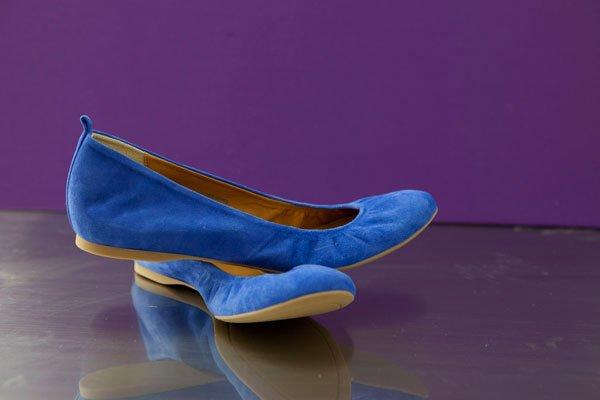 """""""Cece"""" sapphire blue suede ballet flats"""