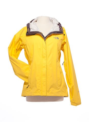 "Yellow Northface ""Venture"" waterproof jacket"