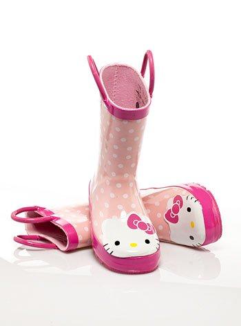 Girl's pink Hello Kitty rain boots