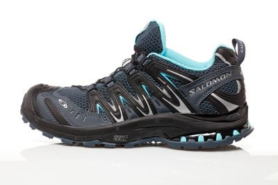 "Navy Saloman ""XA Pro 3D Ultra 2"" women's waterproof hiking shoes"