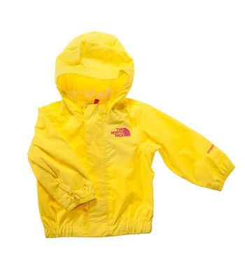 "Yellow girl's Northface ""Tailout"" waterproof jacket"