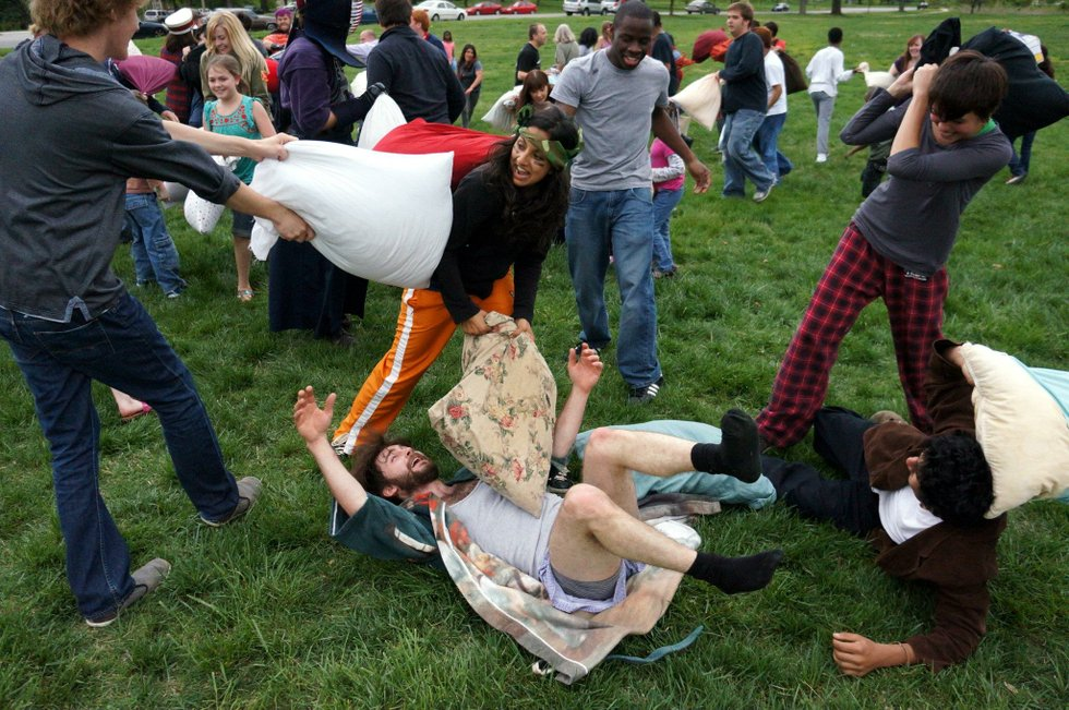 Miss International Pillow Fight Day In Forest Park Here S