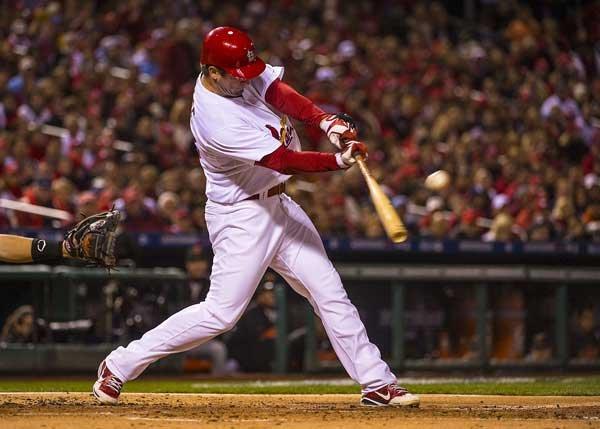 Cardinals third baseman David Freese had one hit in four at-bats during Game 5.