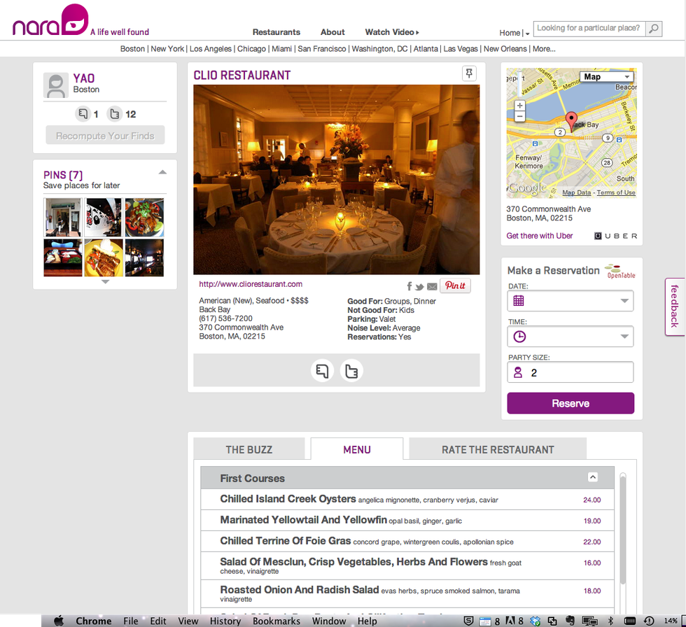 Personalized Restaurant Recommendation App Nara Debuts