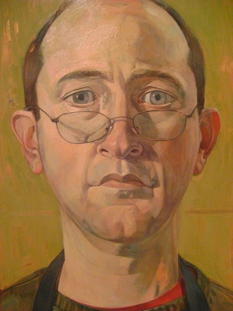 """Self Portrait with Glasses,"" Benjamin Shamback"