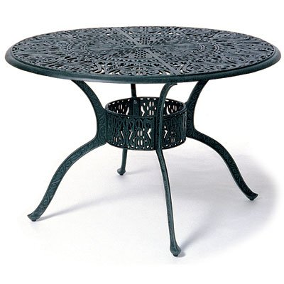 Hanamint Turin Collection cast-aluminum dining table and four chairs