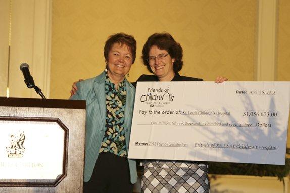 Renee Bell, President of Friends St. Louis Childrens Hospital,  Joan McGruder President of Childrens Hospital