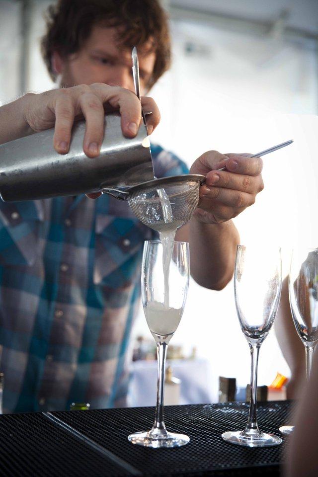 Cocktails by featured mixologist Keyan Still of Hendrick's BBQ