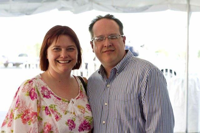 Christine Warta and John Casey