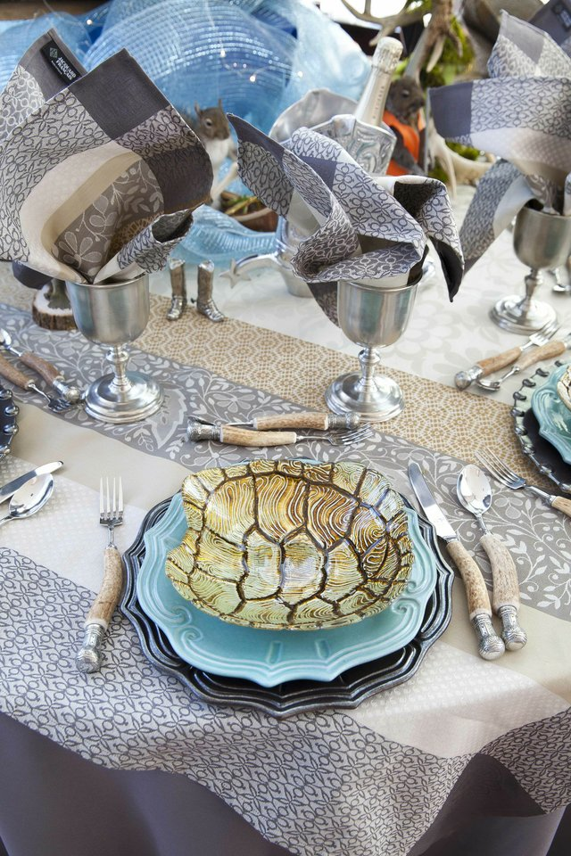 The details from Sallie Home's tabletop design