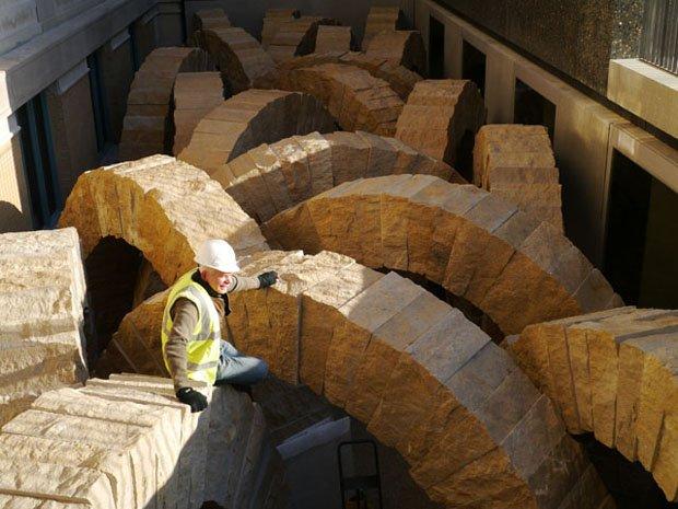Between Building And Bedrock Andy Goldsworthy S Quot Stone Sea Quot