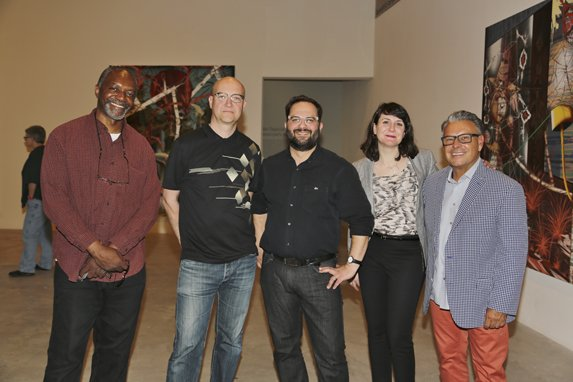 Kerry James Marshall (Artist), Mika Taanila artist, Dominic Molon, Kelly Shindler, Lari Pittman Painter, Artist