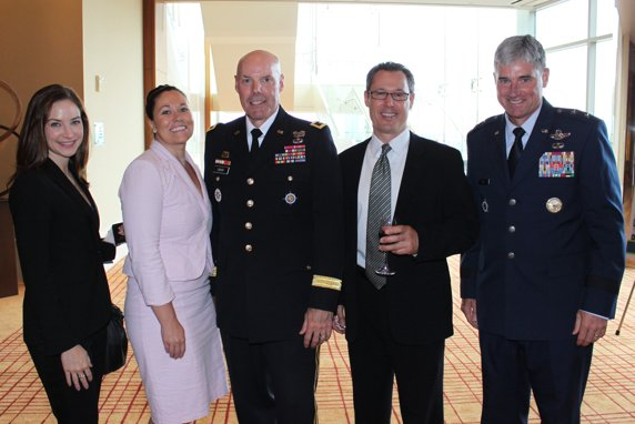 Whitney Savage, Emily Romines, Army Major General Greg Couch, Ben Kershman, Airforce Major General Sam Cox