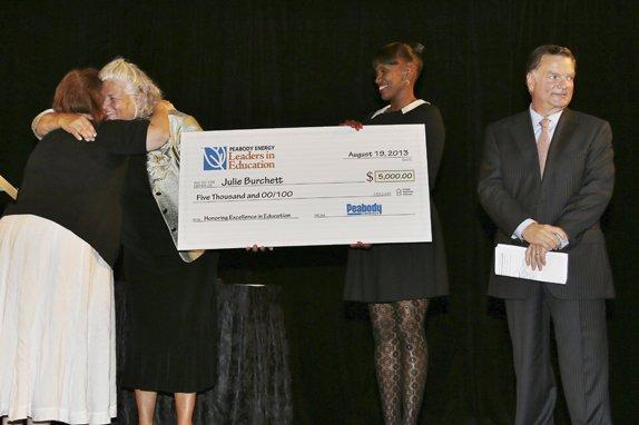 Maureen Moore, Jackie Joyner-Kersee, Honoree and Teacher of the Year, Julie Burchett, Greg Boyce