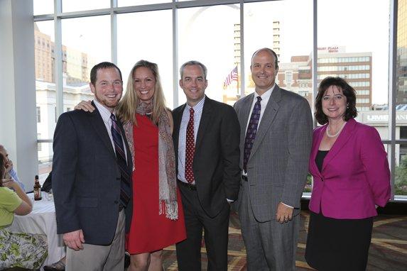 Mike and Honoree Mary Russo, John Moran, David Laughlin, Traci O'Bryan