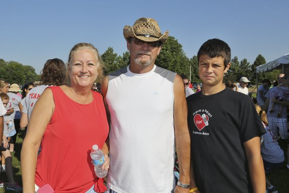 Donna, Tom and Colton Riley