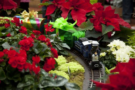 November 22 through January 4: Gardenland Express Holiday Flower and Train Show