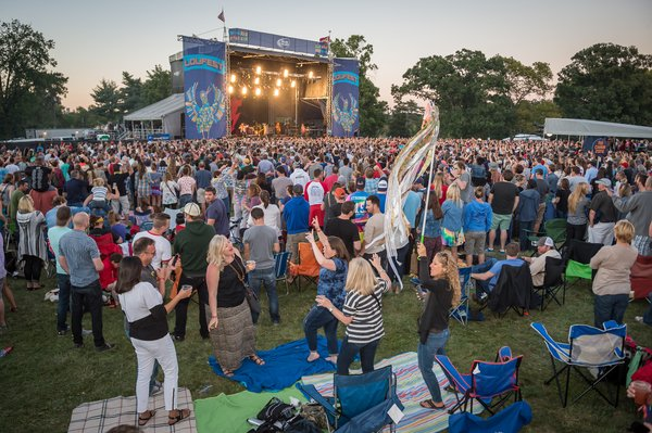 LouFest 2015 music festival in Forest Park in St. Louis, Missouri on Sept 13, 2015.