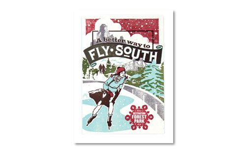St. Louis Gift Guide Forest Park Forever winter poster