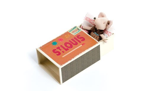 St. Louis Gift Guide Maileg Little Brother mouse with box