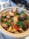 Organic Semolina pasta with marinated grilled chicken, beef meatballs and fresh herbs.  .JPG