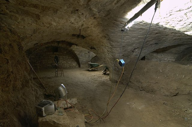 Basement lagering cellar under old brew house looking southeast 1.jpg