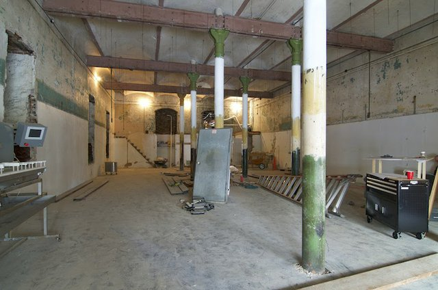 First floor of stock house, looking south.jpg