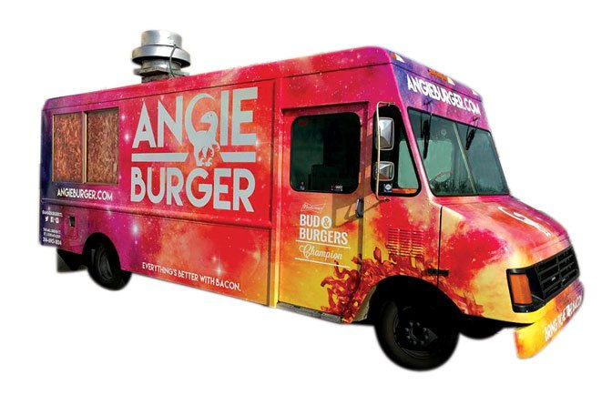 Angie Burger Food Truck Menu