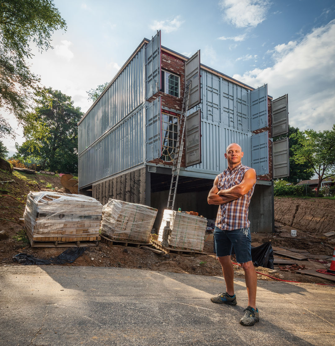 Street Housing: Local Artists Transform Shipping Containers Into Houses