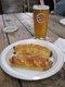 meat pie sausage pie and beer.jpg