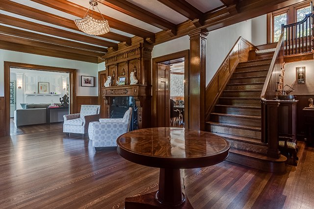 Tudor Revival Interiors on the market: webster park tudor revival - st. louis magazine