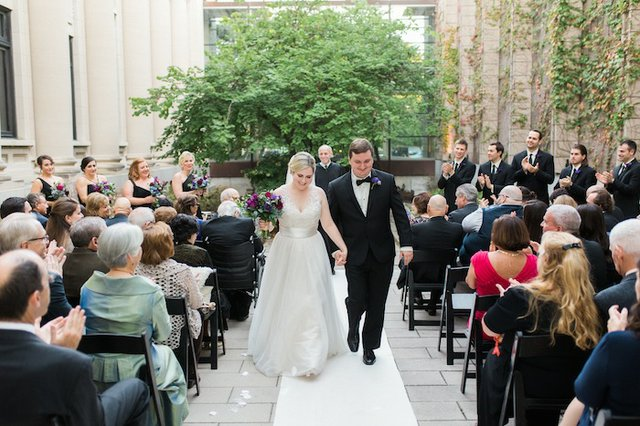 Inside a fall wedding at the Missouri History Museum