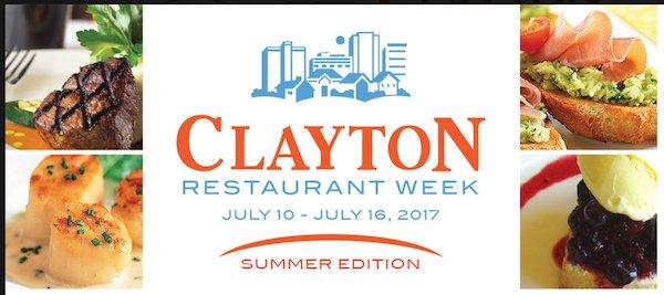 Clayton Restaurant Week July