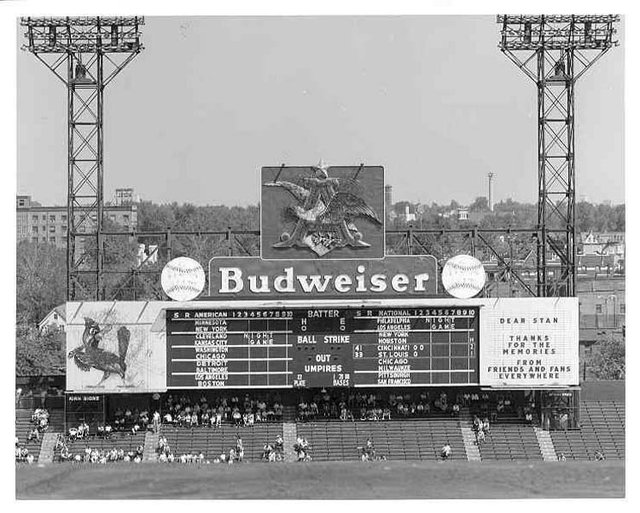 The old scoreboard and eagle at Sportsman's Park.jpg