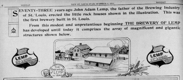 Lemp Advertisement in The St. Louis Star and Times, Monday, October 6, 1913.jpg