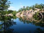 Elephant Rocks quarry pond