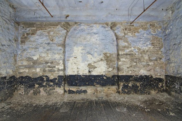 Middle Barrel Vault in Second Basement, Lagering Cellar, of Brew House, showing later Conrete Repairs and Blocked Doorway to Undetermined Location, Photograph by Jason Gray.jpg