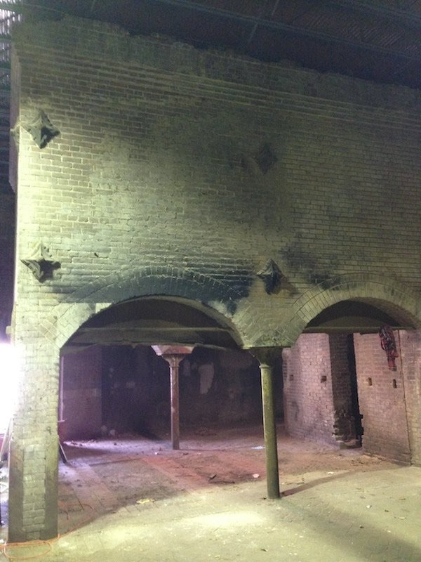 The remains of a kiln inside the malt house, photograph by the author..jpg