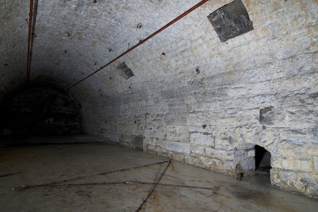 One of Seven Barrel Vaults in Malt House subbasement, showing air holes, photograph by Jason Gray..jpg