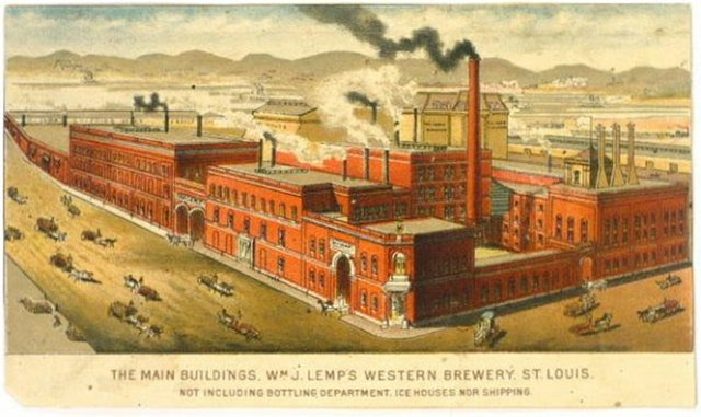 Illustration from 1880s showing Brew House Extension, Offices and Smokestack.jpg