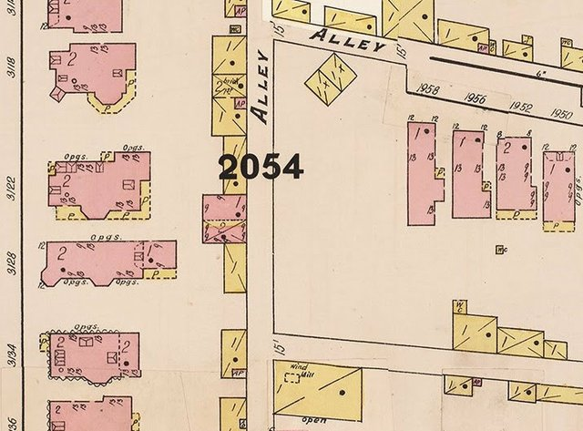 Detail of Whipple Fire Insurance Map showing vacant lot of English Cave property, Courtesy of Missouri History Museum.jpg