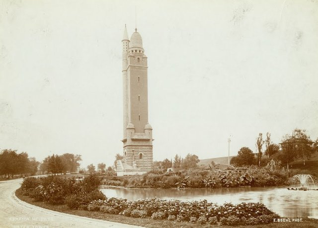 Compton Hill Water Tower and Reservoir Park, Photograph by Emil Bohl, Courtesy of Missouri History Museum, N11361.jpg